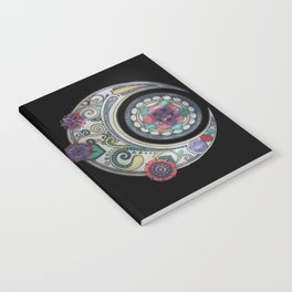 Spiral floral moon Notebook