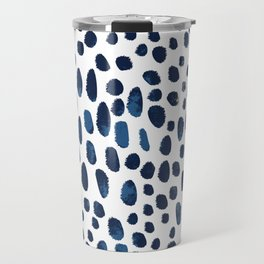 Blue Watercolour Spots Travel Mug