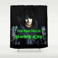 arrow Shower Curtains featuring Arrow by SwanniePhotoArt