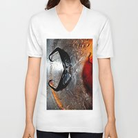 glasses V-neck T-shirts featuring glasses by  Agostino Lo Coco