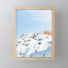 Lost in Santorini Greece Framed Mini Art Print