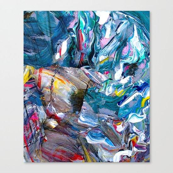 Marble Beach Side Canvas Print