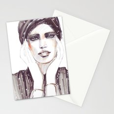 Fashion sketch in markers and pencil Stationery Cards