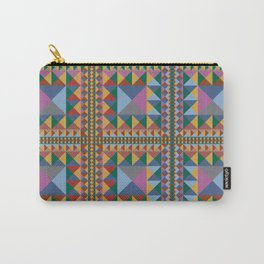 Triangle Pattern Autumn Color - Living Hell Carry-All Pouch