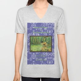 Sherlock Ferret and the Poisoned Pond (cover) Unisex V-Neck