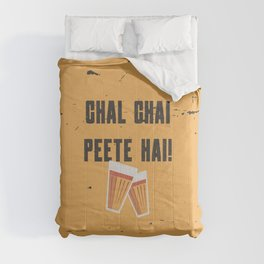 Funny Chal Hindi Quote Comforters