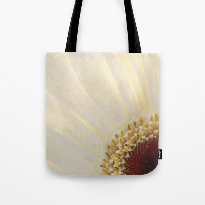 White Daisy in Love Tote Bag