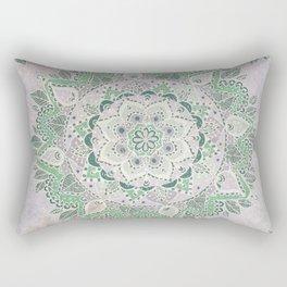 Spring Rain Mandala Rectangular Pillow