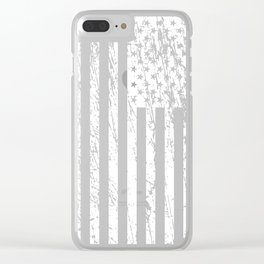 The Flag of the  USA with Rusty Effect II Clear iPhone Case