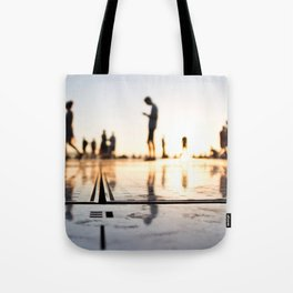 Greeting to the sun, Zadar Tote Bag
