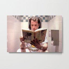 Pulp Fiction Movie Poster - Vincent Vega Print - Funny Bathroom Metal Print