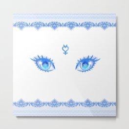 Sailor Mercury Eyes Metal Print