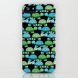 Turtle Pattern (Black/Blue/Green) iPhone Case