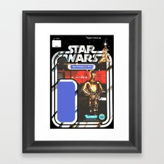 C3P0 See-Threepio Vintage Action Figure Card Framed Art Print