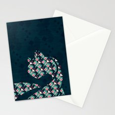 Winter Pattern Cat Stationery Cards
