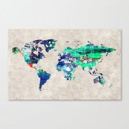 World Map 46 Canvas Print