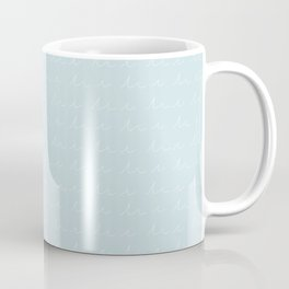 Waves in Light Blue Coffee Mug