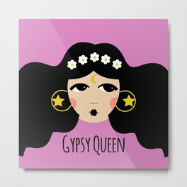 Gypsy Queen Metal Print