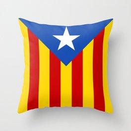 Estelada Blava - Senyeraestelada, HQ Banner version Throw Pillow