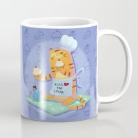 baking Mugs featuring Baking with Cat: Step Six by MTerrenal