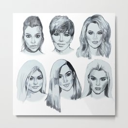 Keeping up 2 (Kardashians) Metal Print