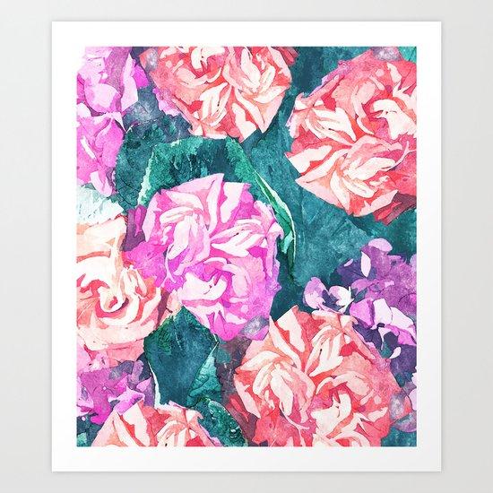 Florals #society6 #decor #lifestyle #fashion #buyart Art Print