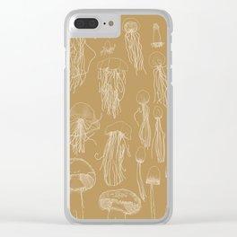 Transitioning Mushrooms (Orange) Clear iPhone Case