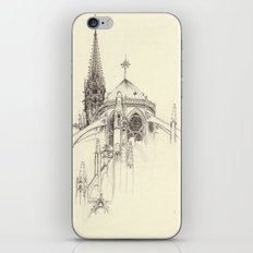 Notre Dame Cathedral Sketch iPhone & iPod Skin