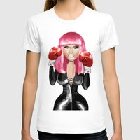 nicki T-shirts featuring Nicki M. Boxing realistic caricature by Danna Victoria