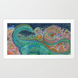 The Land After Time: Littlefoot Considers Singularities Art Print
