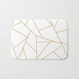 Geometric Gold Hexagon Pattern Bath Mat