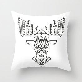 Winter Reindeer Throw Pillow