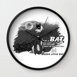 B IS FOR BAT Wall Clock