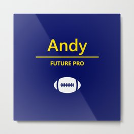 Andy Future Football Player Metal Print