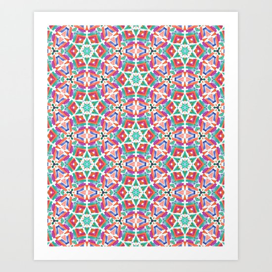 Watercolor Boho Dash 1 Art Print