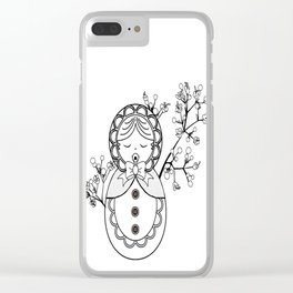 Mind the Child Clear iPhone Case