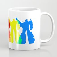 optimus prime Mugs featuring Optimus Prime Colors by Christopher