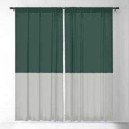 Benjamin Moore 2019 Color of Year Metropolitan AF-690 and Hunter Green Bold Horizontal Stripes Blackout Curtain
