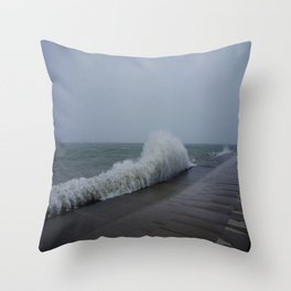 The Gale of Halloween '14 (Chicago Waves Collection) Throw Pillow