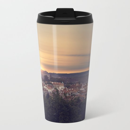 Sunrise in Prague Metal Travel Mug