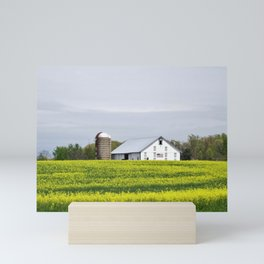 Barn and Silos Mini Art Print