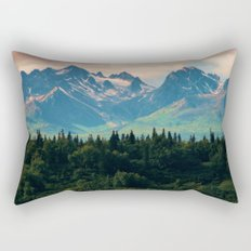 Escaping from woodland heights Rectangular Pillow