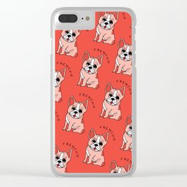 Frenchie Dog Clear iPhone Case