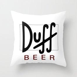 Duff Beer Logo Black Throw Pillow