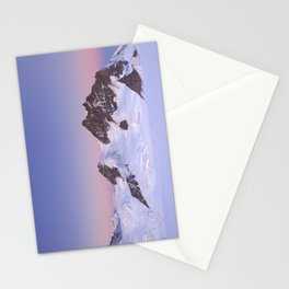 Dawn at the Jungfrau peak from Jungfraujoch in Switzerland Stationery Cards