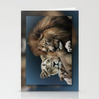 lions Stationery Cards featuring Lions by Julie Hoddinott