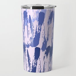 Navy blue lavender watercolor abstract hand painted brushstrokes Travel Mug