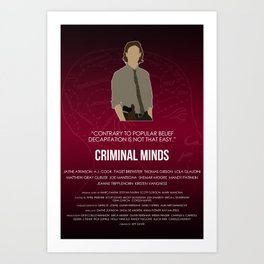 Criminal Minds - Reid Art Print