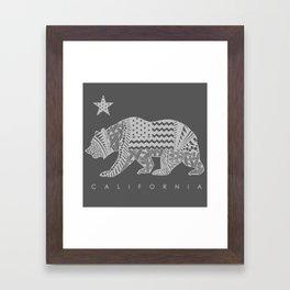 California grey Framed Art Print