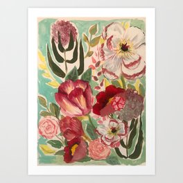 Mixed Floral Art Print